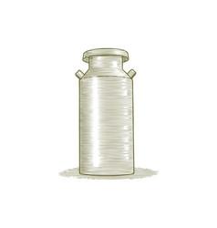 woodcut milk can vector image