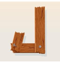 Wooden letter j vector