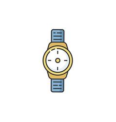 Wrist watch rgb color icon vector