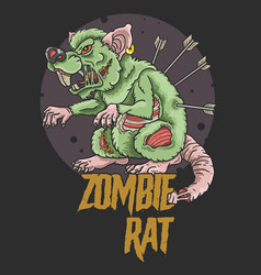Zombie rat killer vector