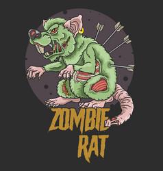 zombie rat killer vector image