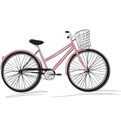 classic ladies bike vector image