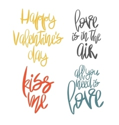 Set of 4 decorative handdrawn lettering vector