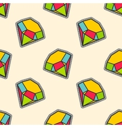 Colorful diamonds patch seamless pattern vector image vector image