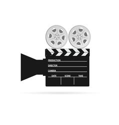 film camera tape black vector image