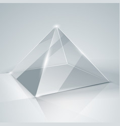 glass pyramid transparent pyramid isolated vector image