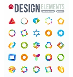 icon set logo design elements vector image