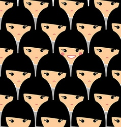 Individuality concept Teenager is standing out vector image