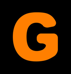 letter g sign design template element orange icon vector image