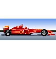 Racing bolide vector image vector image