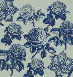 wallpaper with flower pattern vector image vector image