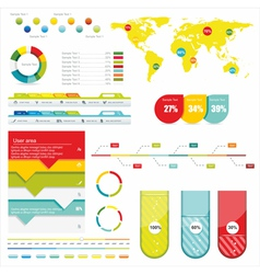 World Map and Information vector image