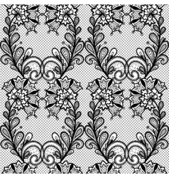 Black lace seamless pattern vector image vector image