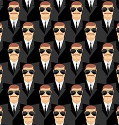 Bodyguard Seamless pattern of men in glasses vector image vector image