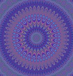 Geometric oriental fractal mandala design vector image vector image