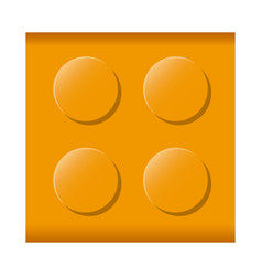 colorful lego square shape block icon toy vector image