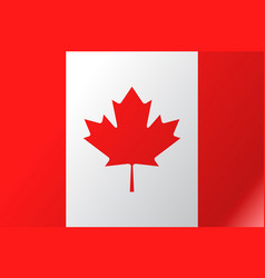 flag canada flat icon vector image