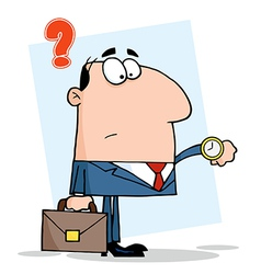 Office Worker Watching The Clock vector image