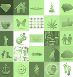PolygonObjectsSet vector image vector image