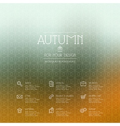 Autumn background and business icons vector image