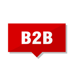b2b red tag vector image