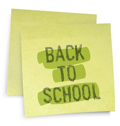 back to school reminder vector image