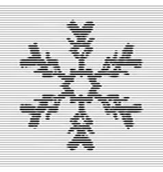 Black snowflake optical vector