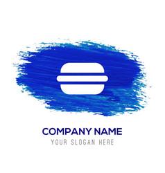 Burger icon - blue watercolor background vector