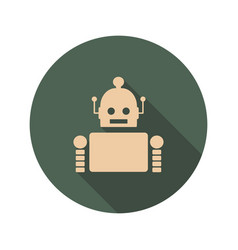 cute vintage robot icon vector image