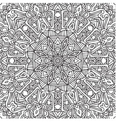 decorative ethnic sketchy contour line art vector image