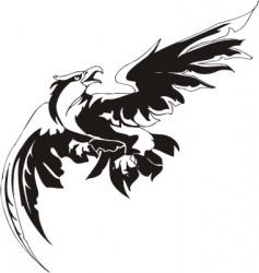 eagle predatory bird vector image