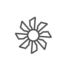 fan line outline icon and wind equipment vector image