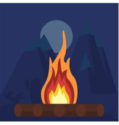 fire bonfire campfire vector image