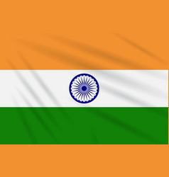 Flag india swaying in the wind realistic vector