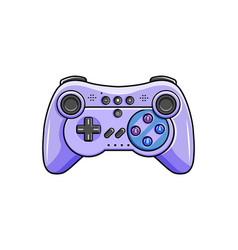 Gaming controller icon isolated wireless gamepad vector