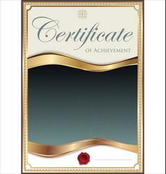Golden certificate template 3 vector