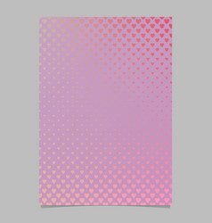 gradient heart pattern brochure template - vector image