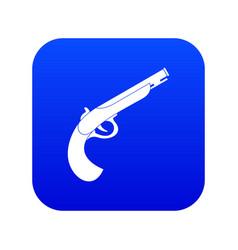 gun icon digital blue vector image