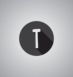 Hammer symbol flat vector image