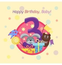 Happy birthday badge icon vector image