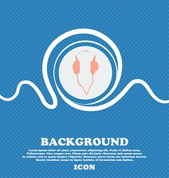 headphones sign Blue and white abstract background vector image