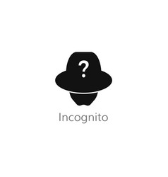 Incognito user icon vector