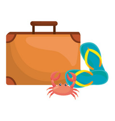 Isolated suitcase and travel design vector