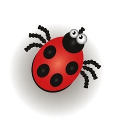 Ladybug isolated on the white background vector