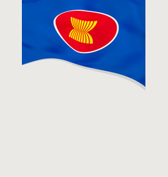 Leaflet design with flag asean template vector