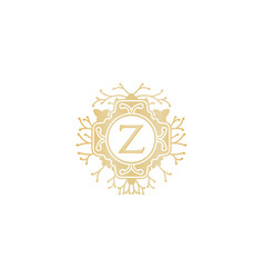 Letter z initial logo for wedding boutique luxury vector