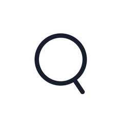 loupe black line icon zoom magnifying glass vector image