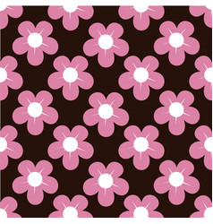 lovely flower background pattern vector image
