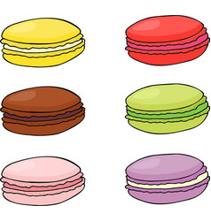 macaroon cookies sweet and tasty template vector image