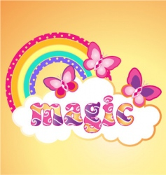 magic butterflies vector image
